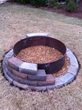 794bcfd259359 Amazon.com : Steel Fire Pit Liner-Campfire Ring-45