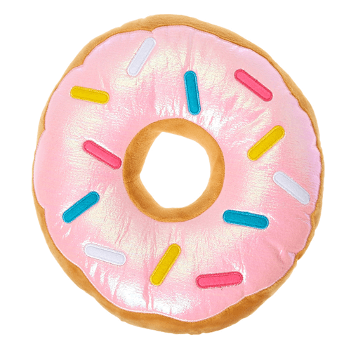 Pink Sprinkled Donut Pillow - Shop Now