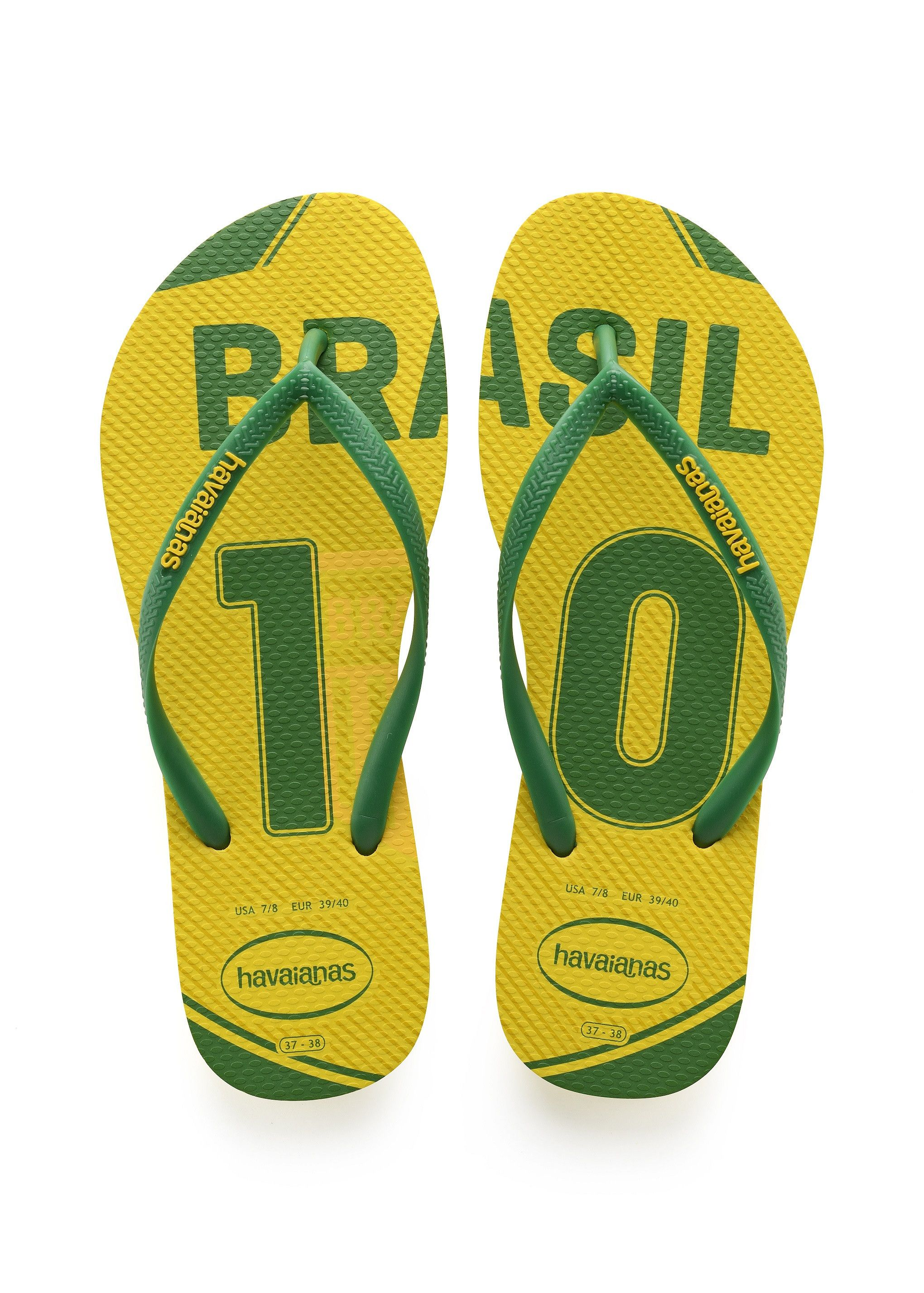 d4a0a9639968 Havaianas Slim Brazil Teams Sandal Citrus Yellow in 2019