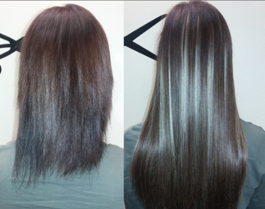 Best Hair Extensions Salon, Near Me. Reno NV. Before and