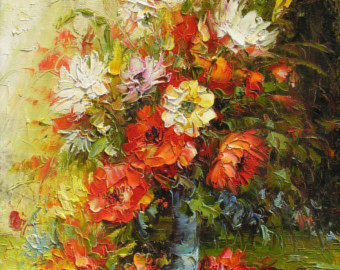 Original oil painting canadian autumn made to order for Dipinti ad olio fiori