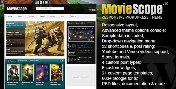 MovieScope - Responsive Wordpress Portal Theme (Film & TV) Download ...