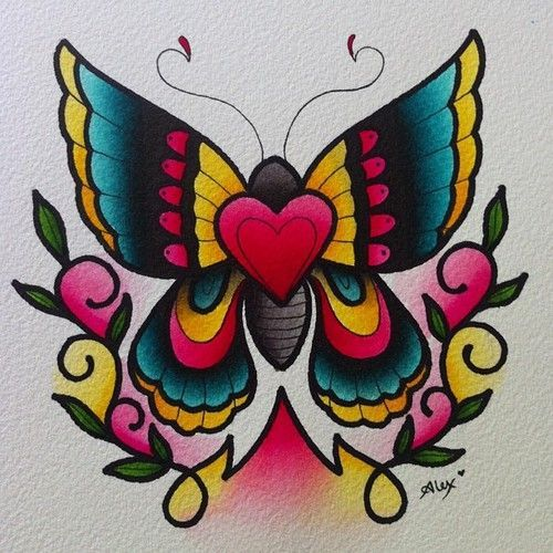 american traditional butterfly tattoos alexstrangler butterfly tattoo flash and art for. Black Bedroom Furniture Sets. Home Design Ideas