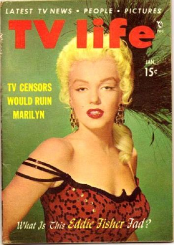 TV Life 1954 Marilyn Monroe -TV-LIFE-MAGAZINE-MARILYN-MONROE-COVER-RIVER-OF-NO-RETURN-MINI-MAG