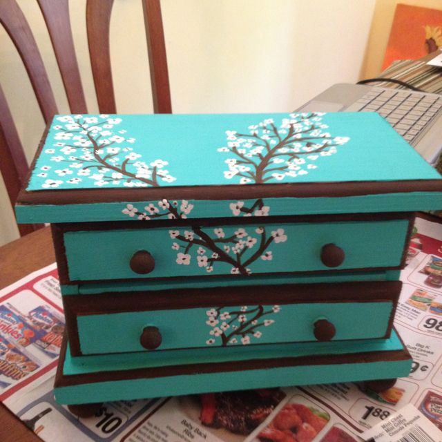 Jewelry Box Painting With Images Painted Jewelry Boxes