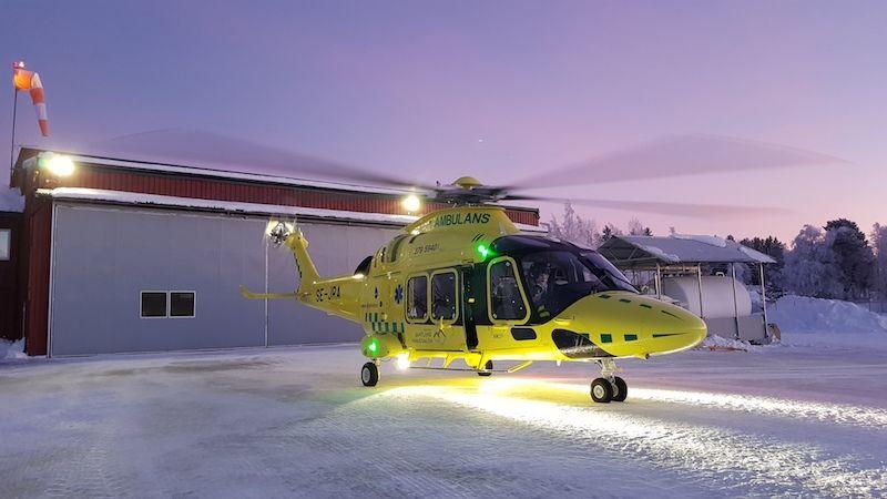 First Nordic Ems Aw169 Flies Inaugural Mission Rotor Wing International Flight Paramedic Inauguration Medical
