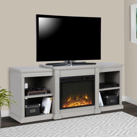 Ameriwood Home Manchester Electric Fireplace Tv Stand For Tvs Up To