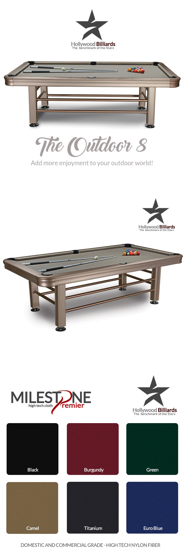 Pool table legs accessories for sale - Tables 21213 Imperial Outdoor 8 Ft Pool Table Brand New Billiard Outdoor Free