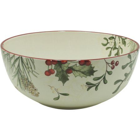Better Homes and Gardens Heritage Serve Bowl, Multicolor | Holidays ...