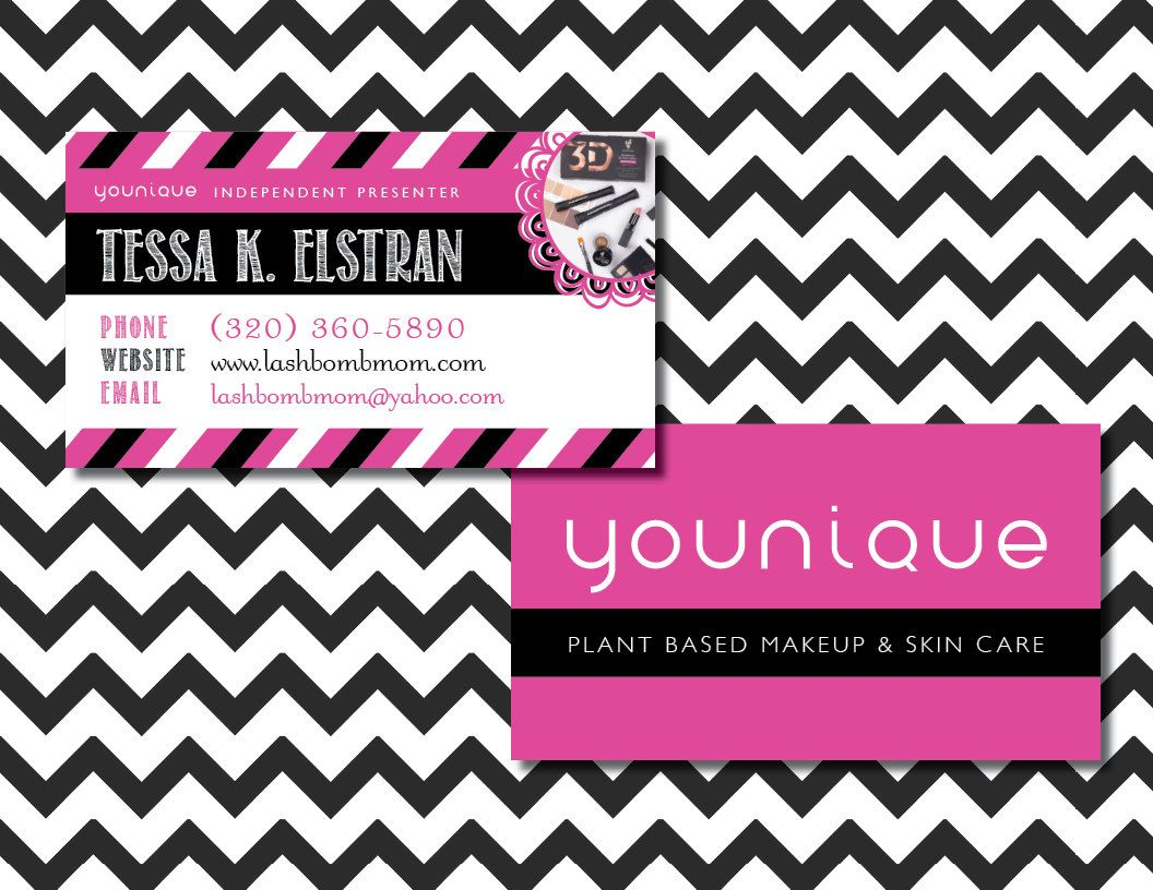 Younique business card, Younique calling card, Younique standard ...