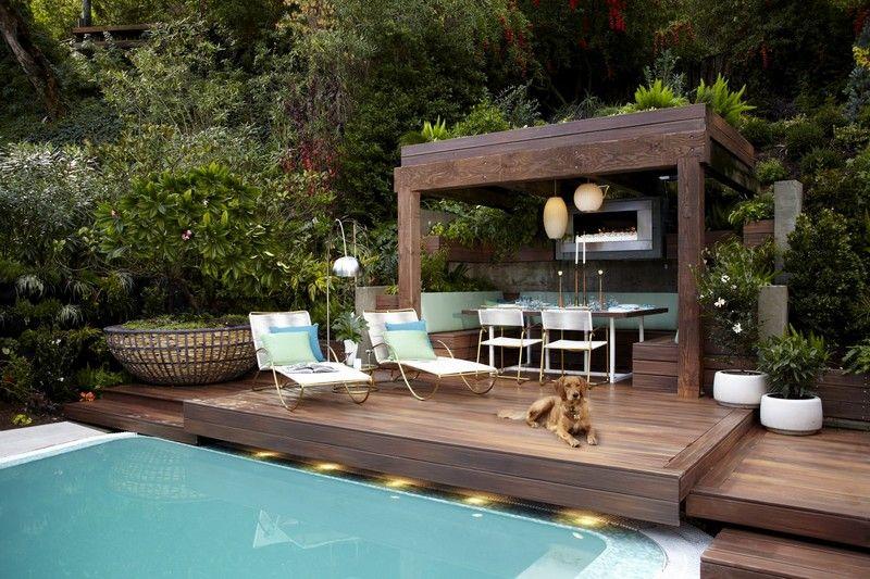 Gartengestaltung für kleine Gärten \u2013 Ideen, Bilder, Beispiele - gartengestaltung reihenhaus pool