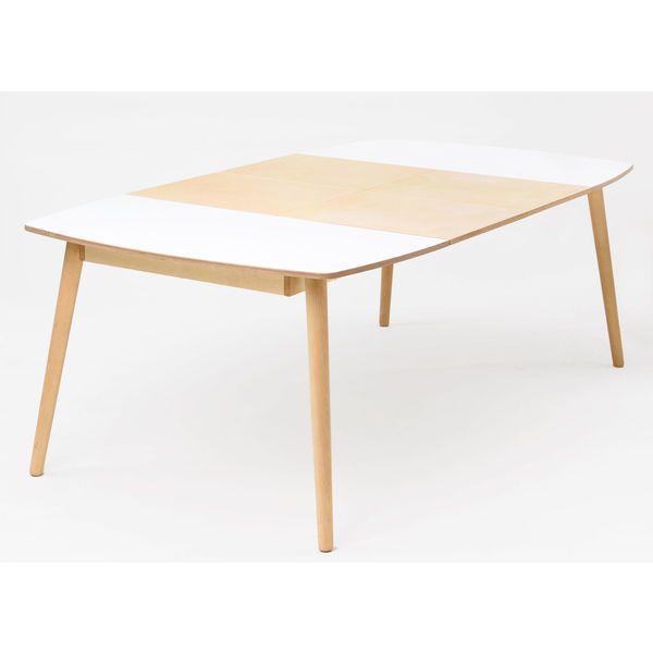 Runder Esstisch Nam Nam, Ausziehbar. Verschiedene Größen. Esstisch In Weiß  U0026 Holz Für 6 10 Personen.