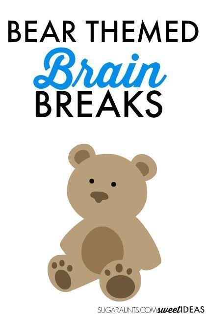 Bear Brain Breaks | PRESCHOOL BEAR THEME | Brain breaks