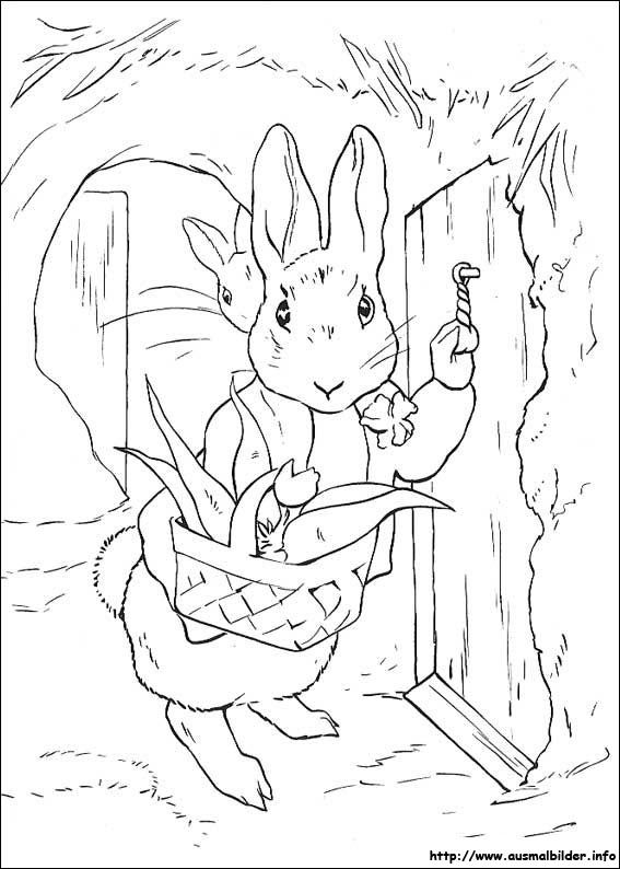 Peter Rabbit Malvorlagen