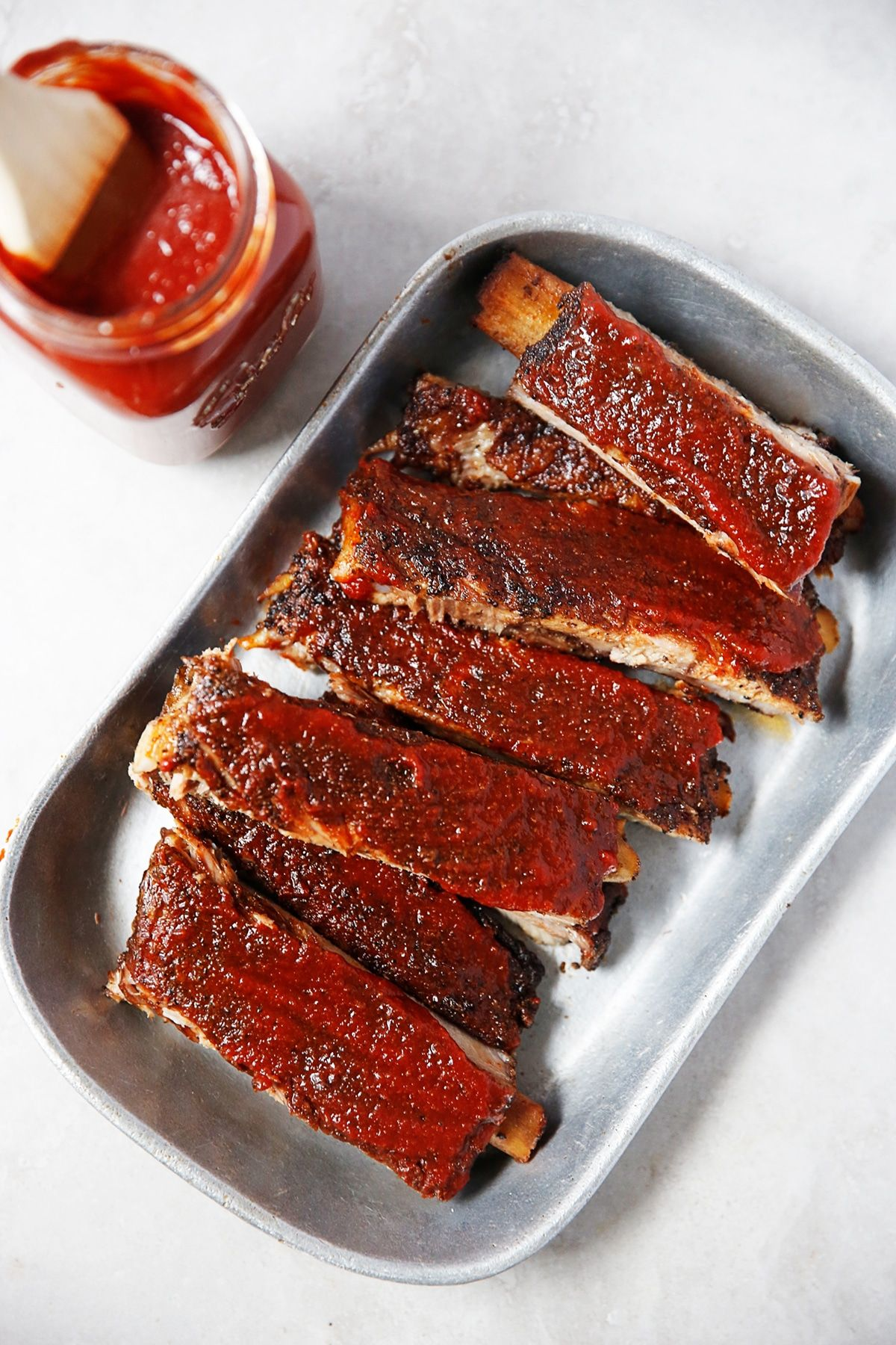 These Oven Baked Coffee Barbecue Pork Ribs Are The Perfect Main Dish To Cook Up On A Lazy Sunday