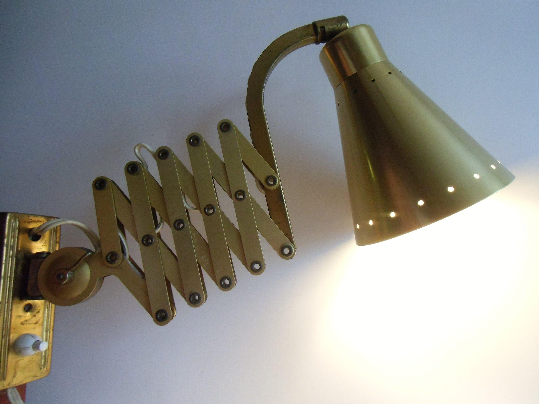 Vintage Scissor Lamp Sis Metal Desk Lamp Design Classic From The 70s Lamp Design Wall Lamp Scissor Lamp Stylenovo In 2020 Metal Desk Lamps Desk Lamp Design Wall Lamp