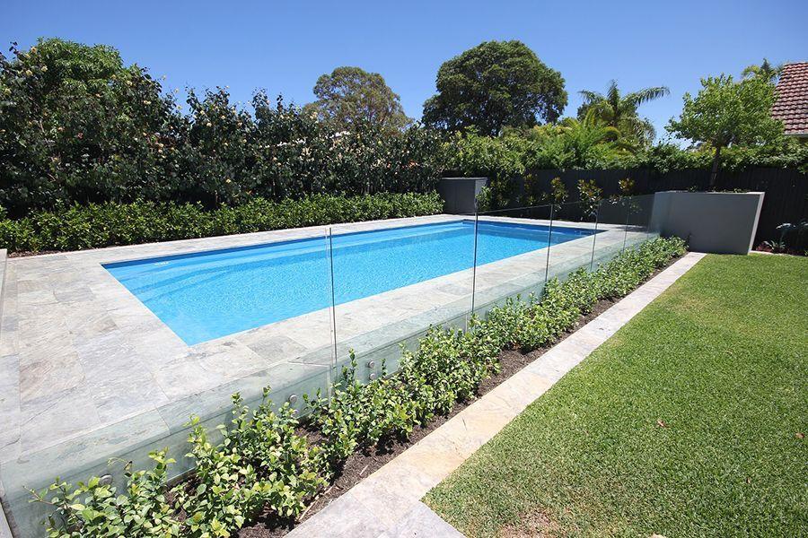 Siena Swimming Pool 9 5m X 4 45m Aqua Technics Swimmingpool Swimming Pool Landscaping Backyard Pool Landscaping Swimming Pool Designs Pool Landscaping