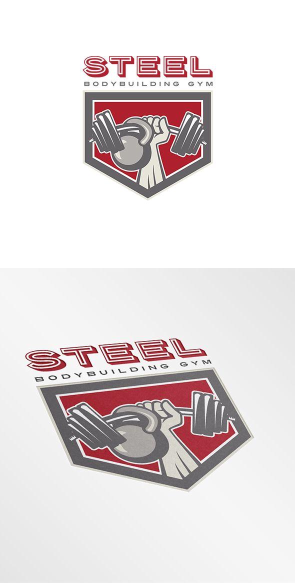 Steel Body Building Gym Logo