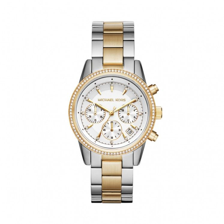 Michael Kors Ritz Two Toned Chronograph Ladies Watch – 2019  ad9450af16