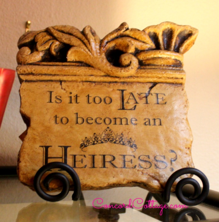 Is it too late to become an Heiress????  www.Concordcottage.com