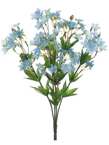 Forget me not silk wildflower bush in light bluebr12 tall forget me not silk wildflower bush in light mightylinksfo