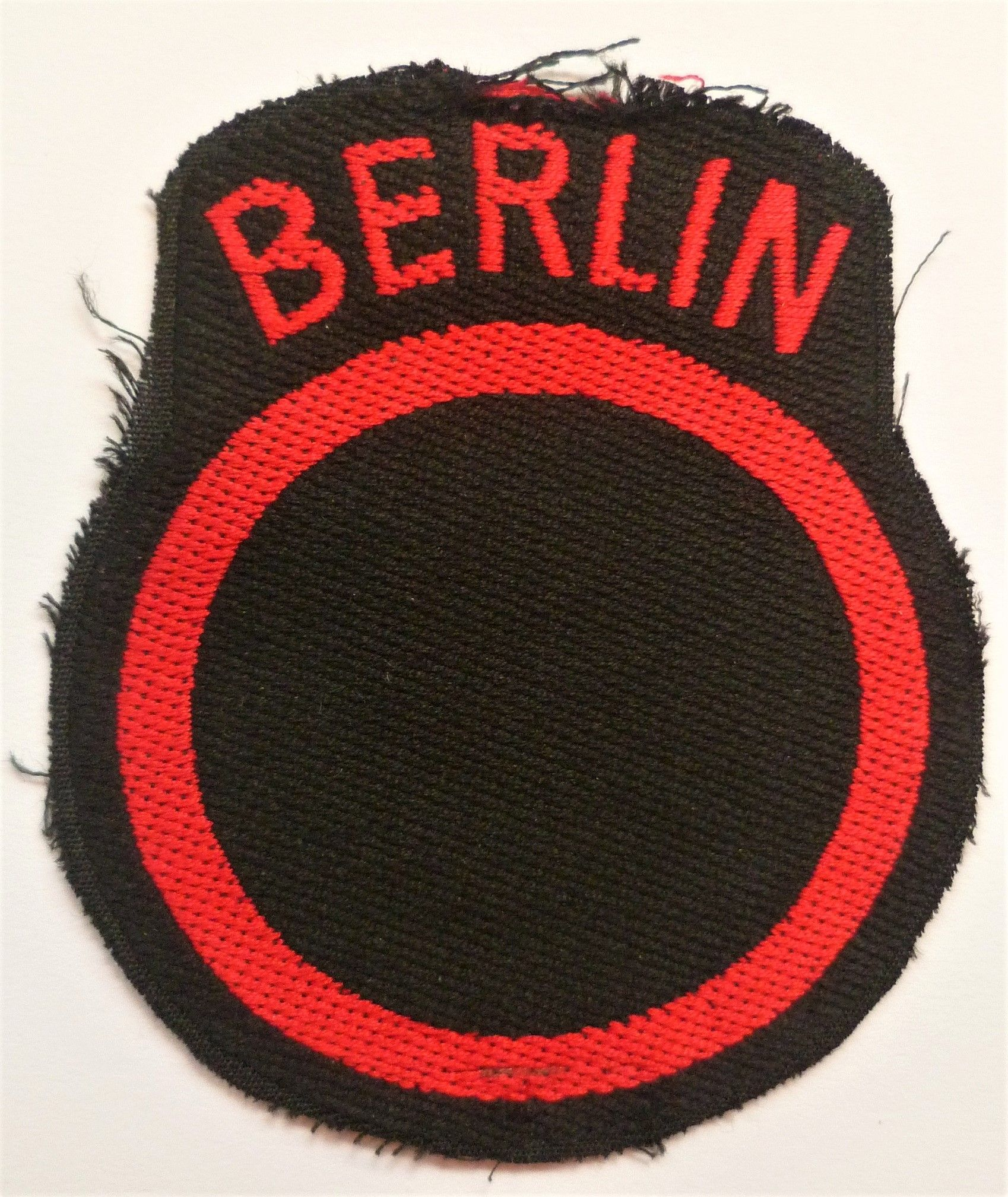 British Troops Berlin Occupation Army Cloth Formation Sign
