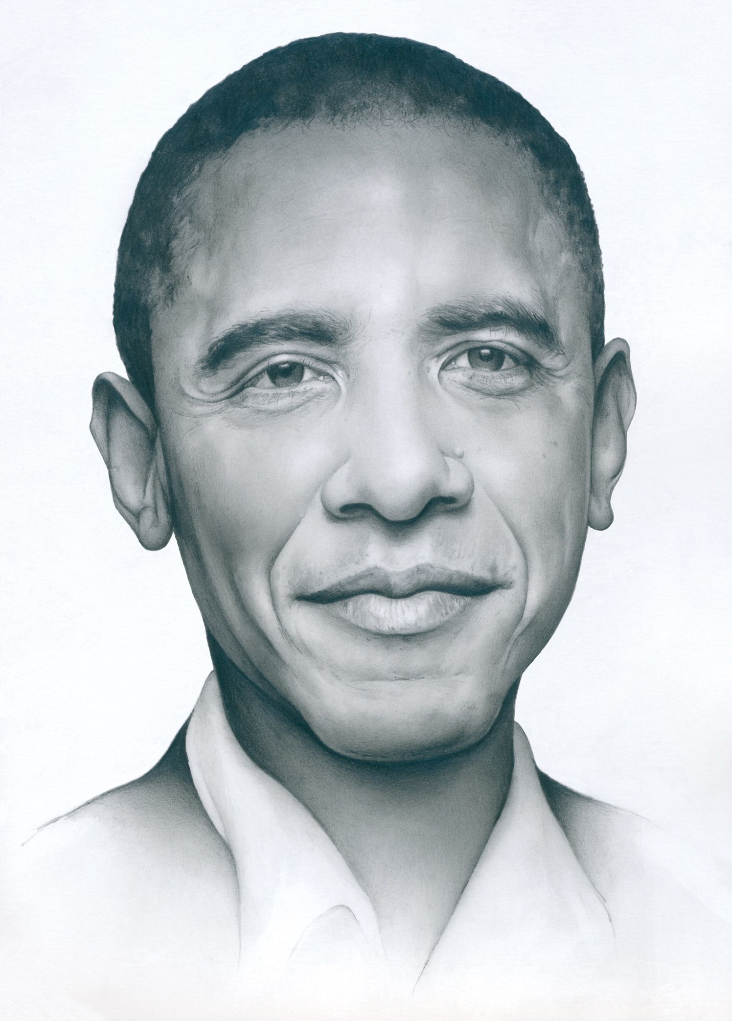 Pencils sketches obama portrait cath riley debut art