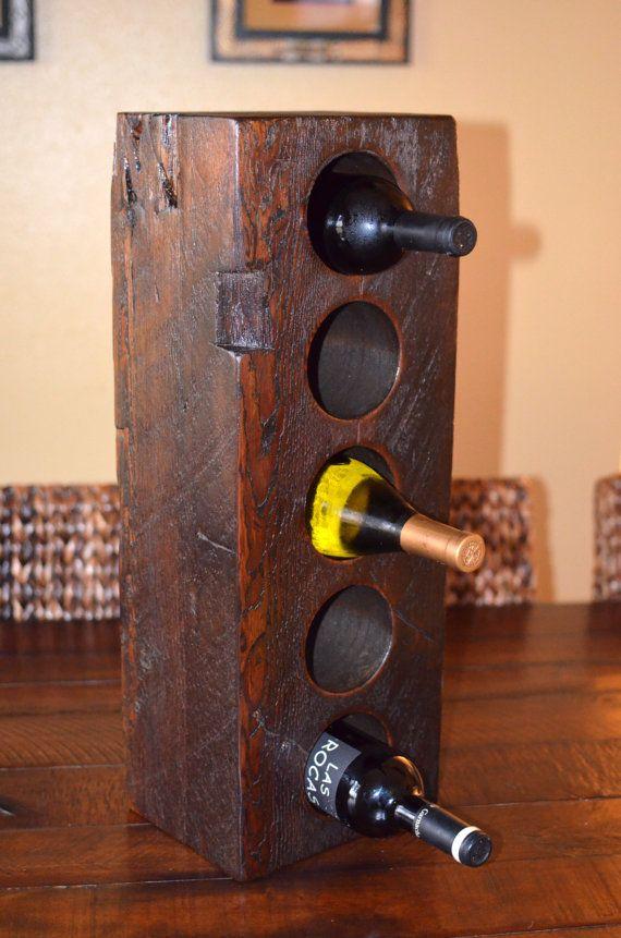 Industrial / Rustic Barn Wood Wine Rack by ...