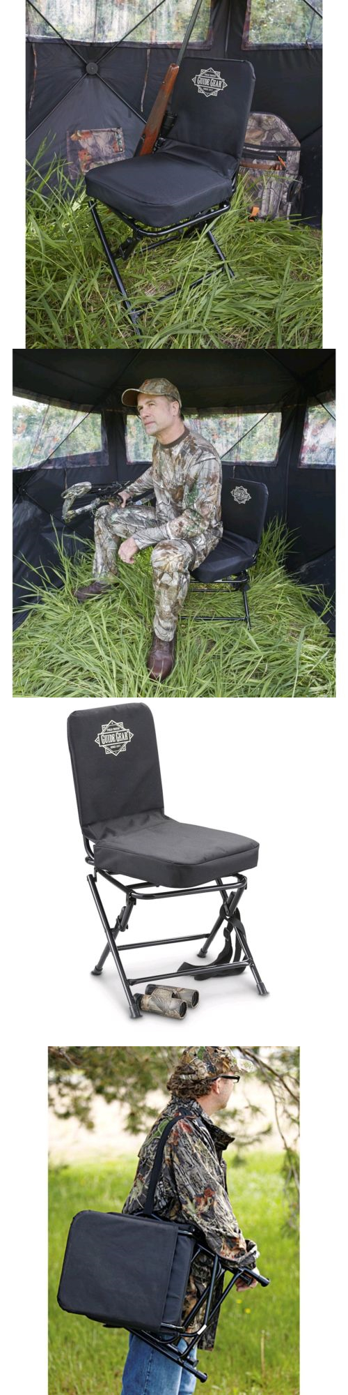 Seats and Chairs 52507 Portable Swivel Hunting Chair Folding Deer Stool Turkey Padded New & Seats and Chairs 52507: Portable Swivel Hunting Chair Folding Deer ...