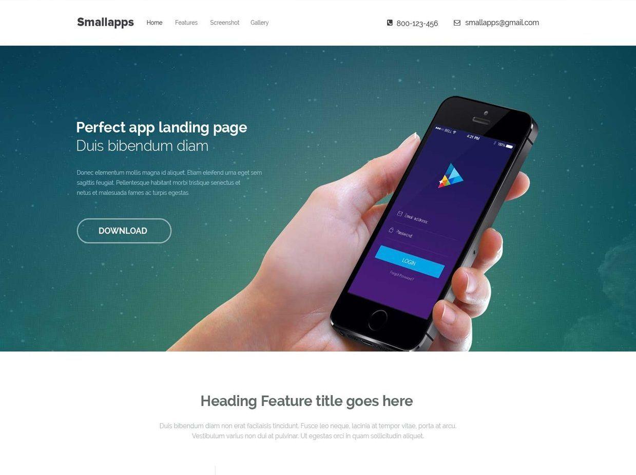 Smart App Responsive Bootstrap 3 App Landing Page For Free Psd Website Free Website Templates Website Template