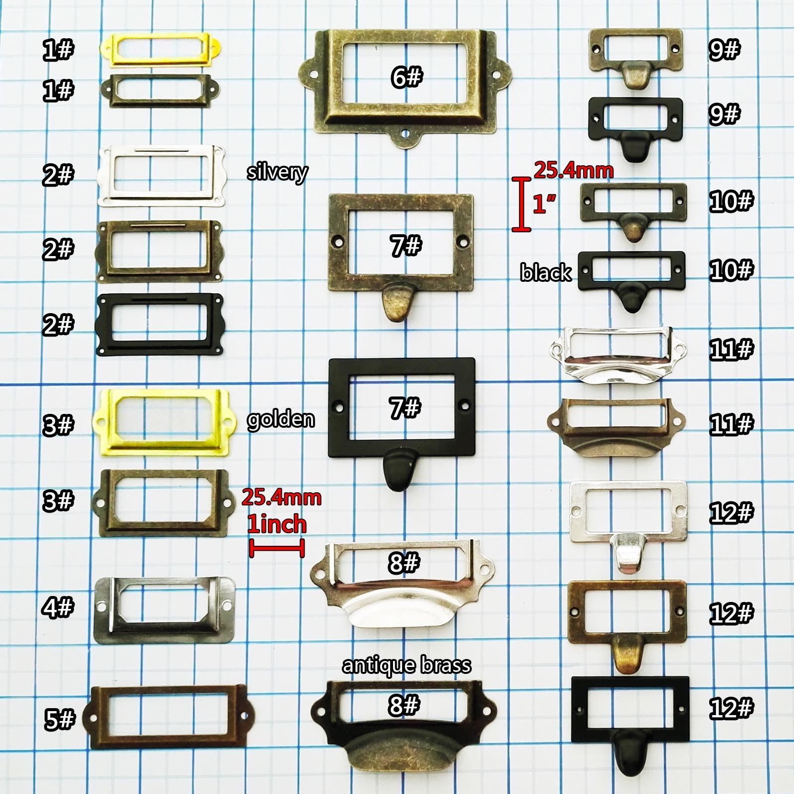 Details About 6/12/48pcs Cabinet Drawer Door Tag Label