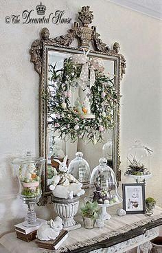 A Little More Easter Decorating Vintage Easter Decor Easter Table