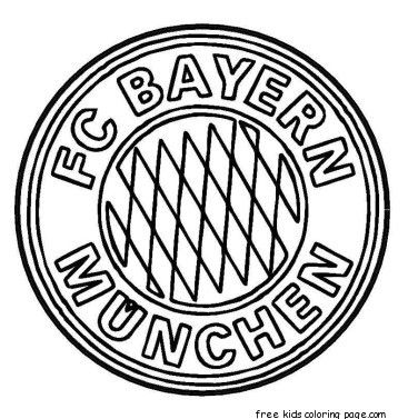 Printable Bayern Munich Logo Soccer Coloring Pages For Kids