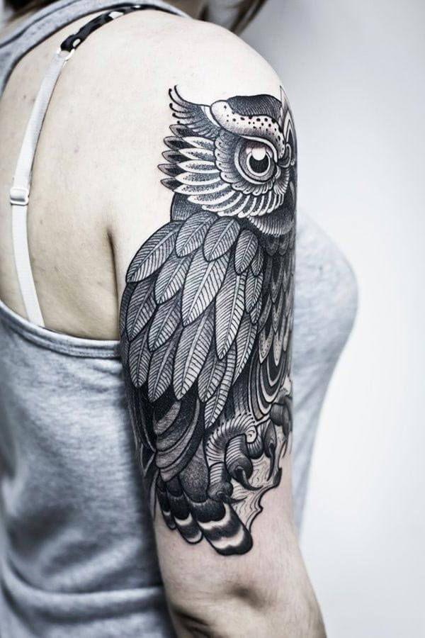 baykuş omuz dövmesi | Baykuş Dövmeleri / Owl Tattoos ...