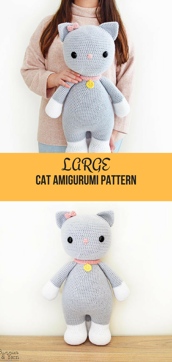 Free Playing Cats Crochet Amigurumi Pattern - Little Bear Crochets | 1260x600