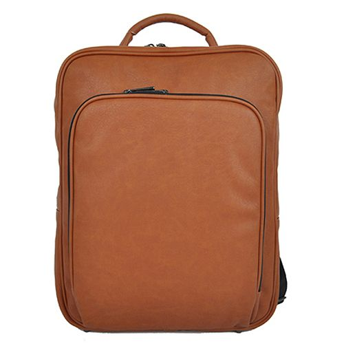 Tan Leather Backpack College Backpack Laptop Bag DICKFIST 510 ...