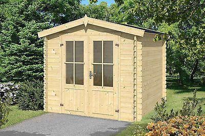 Gartenhaus Ca 25x25 M Geratehaus Blockhaus Schuppen Qualitat Holz 28 Mmsparen25 Sparen25de Sparen25