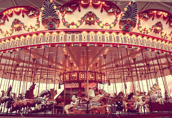 The Carousel One Photo Print, Nursery Decor, Carnival ...