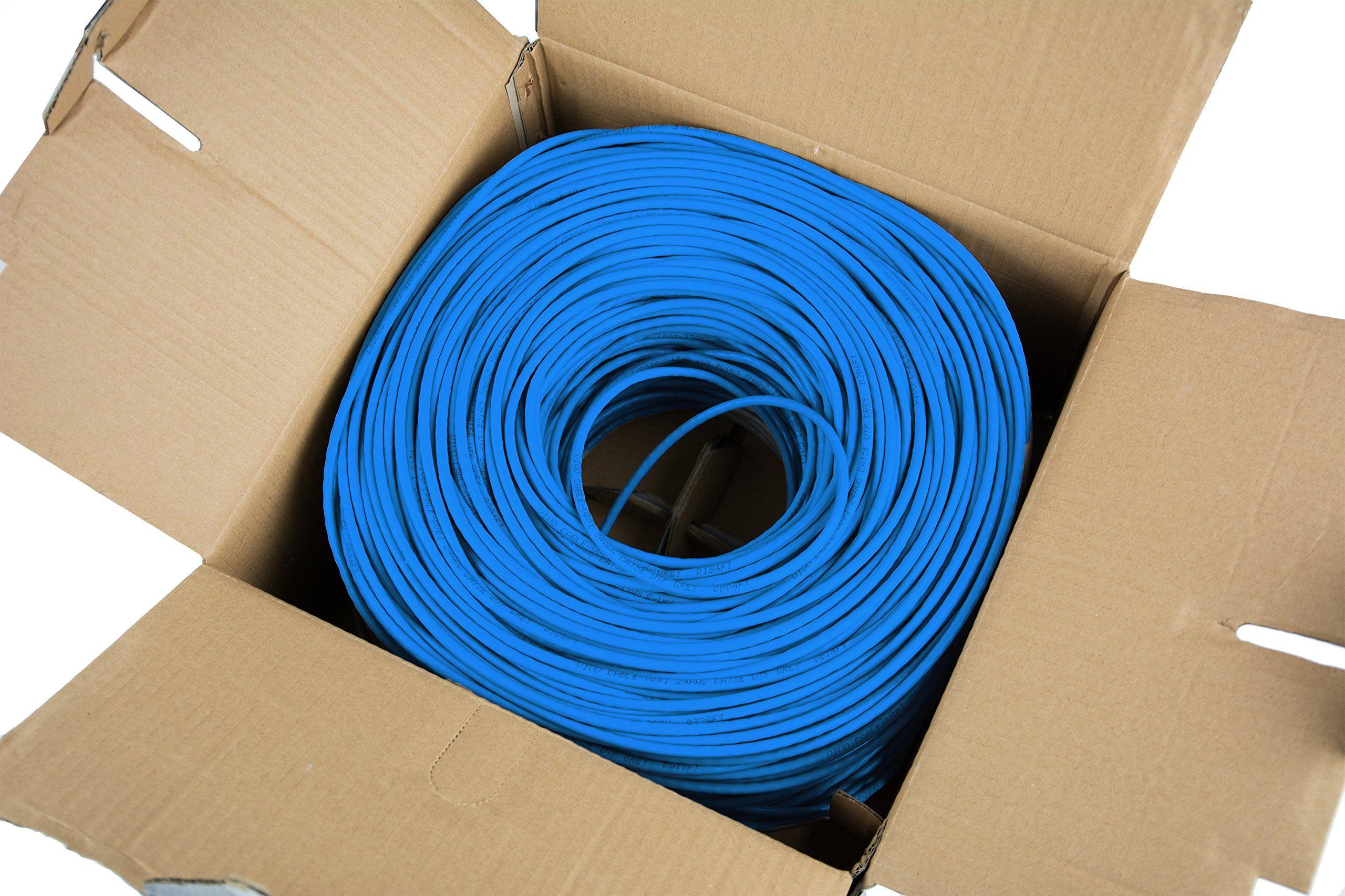 Vivo Blue 1 000 Ft Bulk Cat5e Ethernet Cable Wire Utp Pull Box 1 000ft Cat 5e Style Cable V001b Cat5e Bulk Cable Ethernet Cable Cable Wall Decor Quotes
