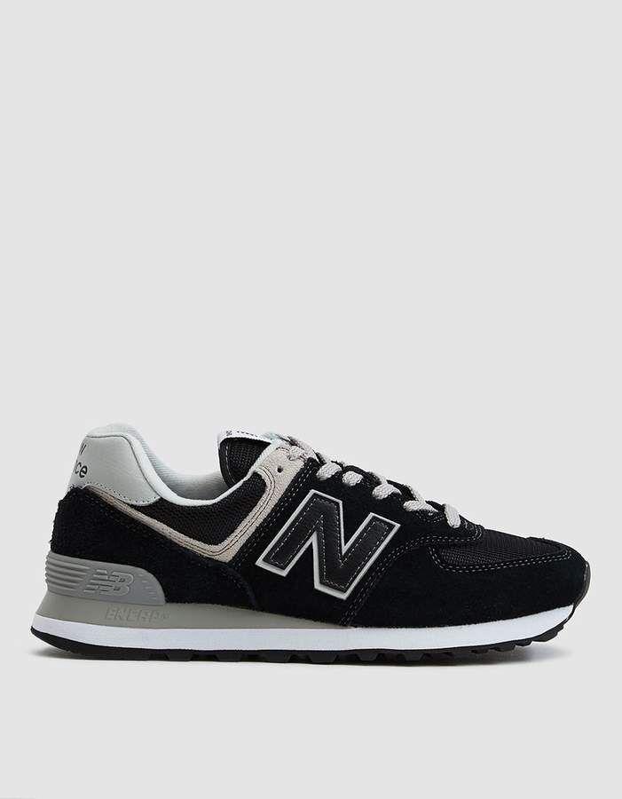 574 Suede Sneaker In Black White