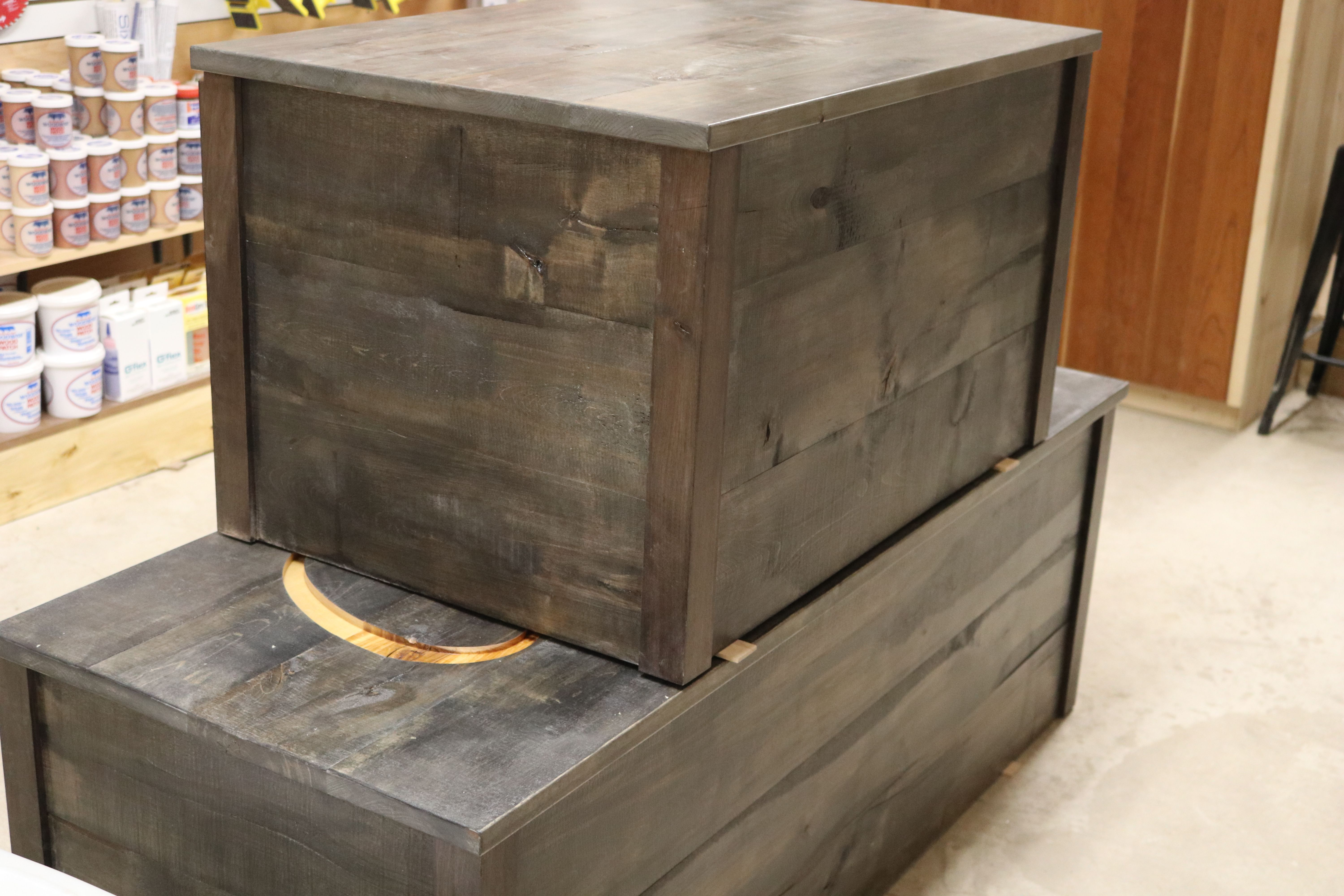 Rustic Alaskan Birch Box With General Finishes Pewter Dye Stain