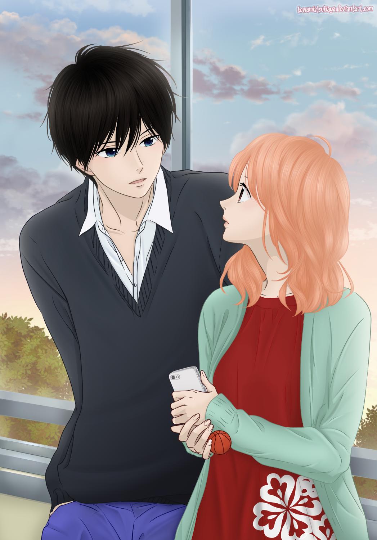 Haru matsu bokura towa mitsuki couple art coloring shoujo anime manga deviantart anashin