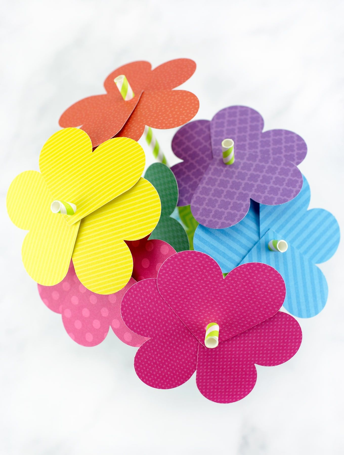 Simple Paper Heart Flowers Recipe Paper Flowers For Kids