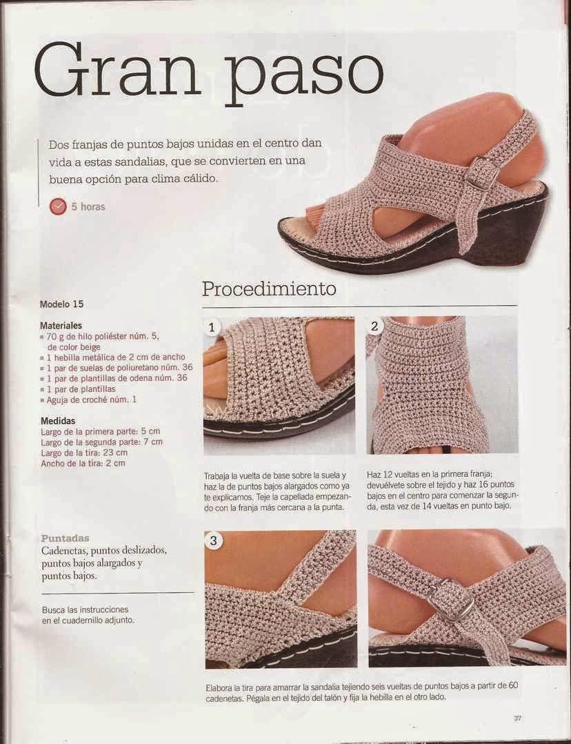 Instrucciones de Sandalias | Patrones De Ganchillo | Pinterest ...