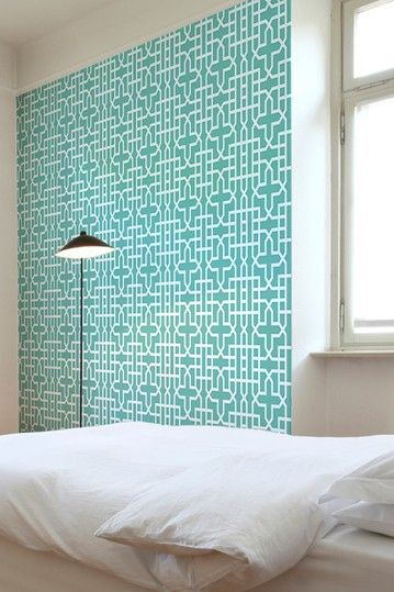 Geometric Removable Wall Decal in Teal
