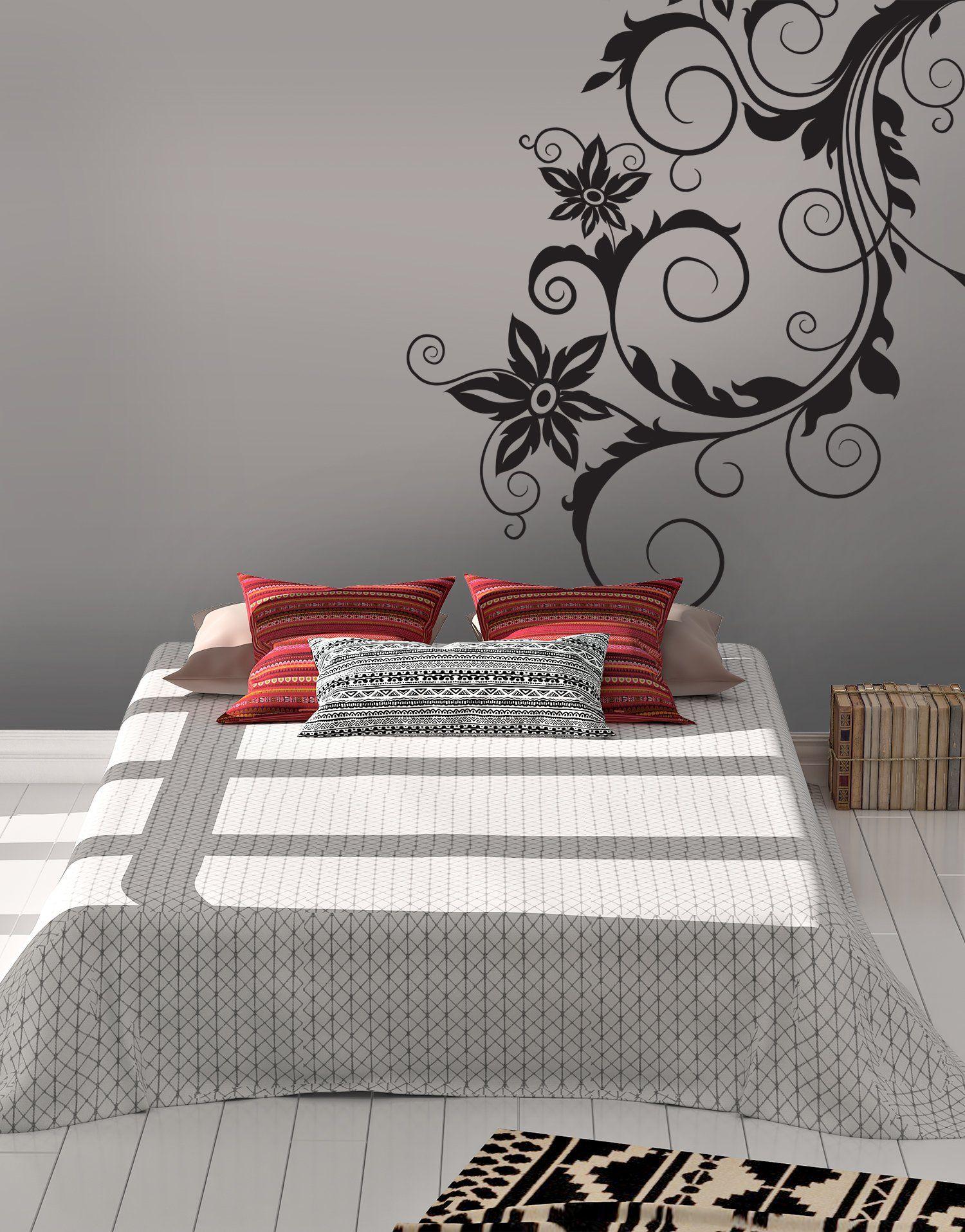 Swirl Flower Bush Wall Decal Design 419 Vinyl Wall Vinyl Wall Decals Home Wall Decor