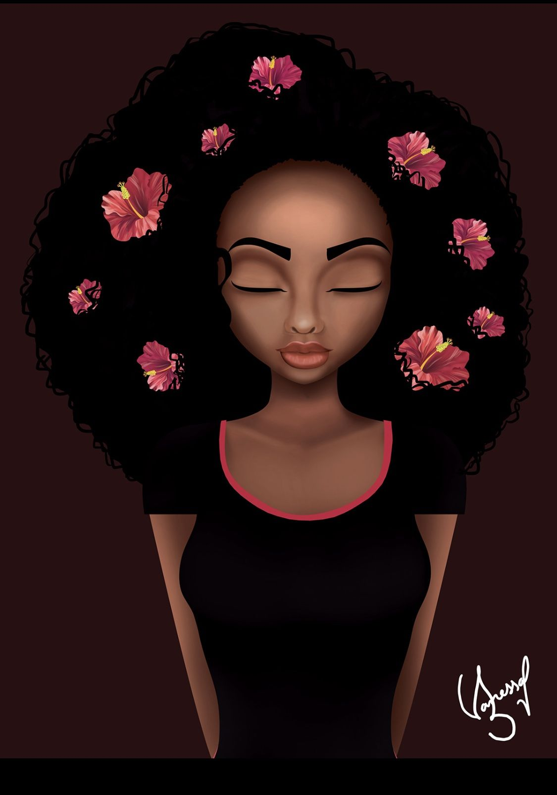 Queen Sit Pretty Theartoftina Blackart Art Digitalart Blackgirlmagic Melanin Melaninpoppin Melaninonfleek Black Women Art Female Art Black Art