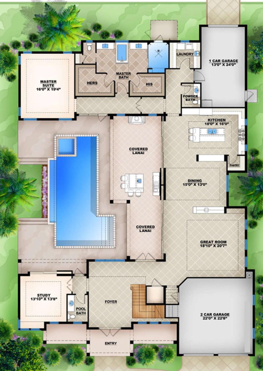Contemporary House Plan 207