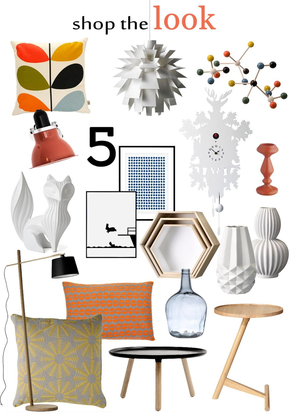 Mood board: retro patterns, geo shapes & zesty accent colours | Design Lovers Blog