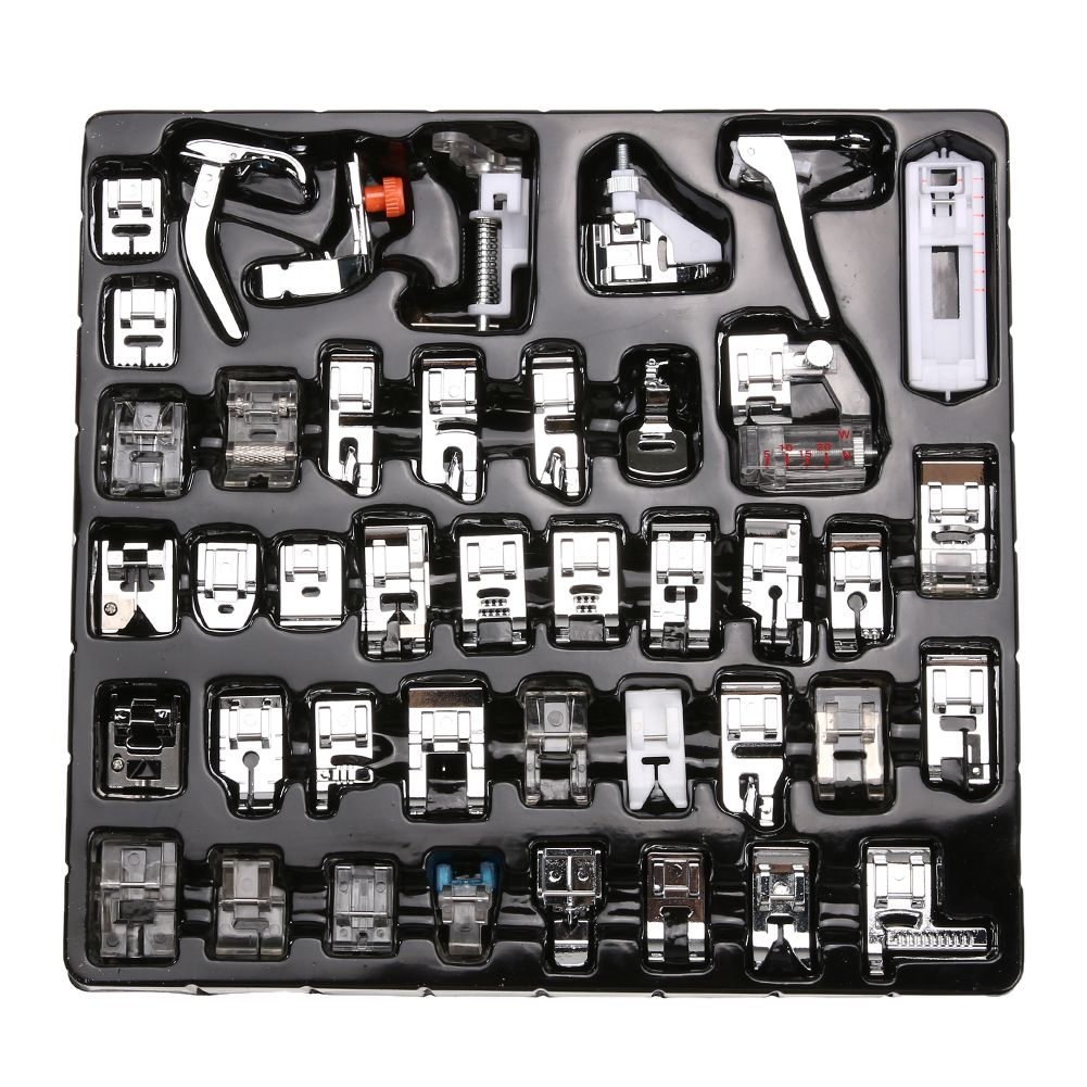15 PCS Sewing Machine Presser Foot Feet Tool Kit Set For Brother Singer Domestic